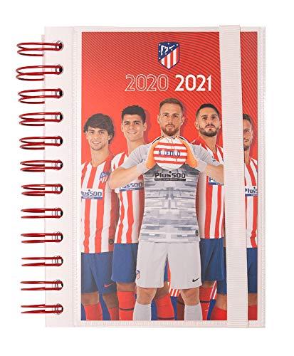 ERIK - Agenda escolar 2020/2021 día página S Atlético de Madrid, 11 meses (11,4x16 cm)