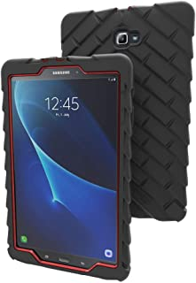 Gumdrop Droptech Case Designed for Samsung Galaxy Tab A 10.1 inch (2017) Tablet for K-12 Teachers, Students, Kids - Black/Red, Rugged, Shock Absorbing, Extreme Drop Protection