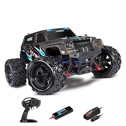 Traxxas LaTrax Teton Nero Brushed 1:18 Automodello Elettrica Monstertruck 4WD 100% RtR 2,4 GHz incl. Batteria, caricato