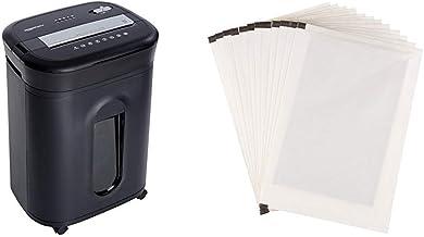 Amazon Basics 15-Sheet Cross-Cut Paper/ CD/ Credit Card Shredder & SP12A Shredder Sharpening & Lubricant Sheets - Pack of 12