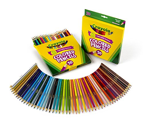 Lápis coloridos Crayola com 50 unidades (pacote com 2)