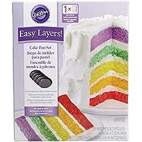 Wilton 2105-0112 - Set 5 moldes capas para Layer Cakes, 15.2 cm diam x 1,9 cm alto