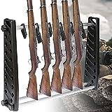 BaiHQF Titular de Rifle con Capacidad para 7 Rifle, Pistola Soporte de Exhibición, para Airsoft Almacenamiento Y Exhibición de Armas