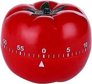 Hemoton Temporizador de Cocina Manual de Dibujos Animados Forma de Tomate Vegetal Recordatorio de Alarma Giratorio Mecánico para Cocinar Temporizador de Cuenta Regresiva