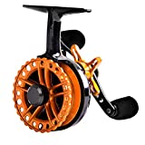 Fiblink Inline Ice Fishing Reel Right\/Left in Line Ice Reel with 4+1 Ball Bearings (Orange, Right Handed)