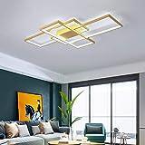 Minimalista LED Lámpara de techo para sala de estar regulable, Plafón araña de...
