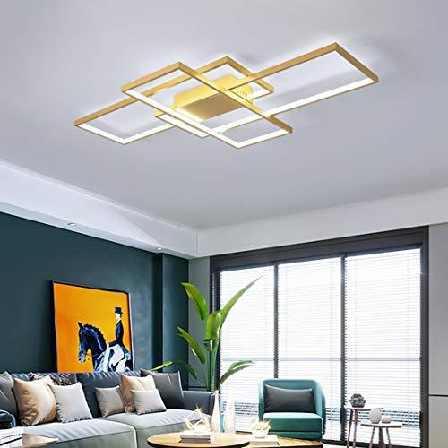 Minimalista LED Lámpara de techo para sala de estar regulable, Plafón araña...