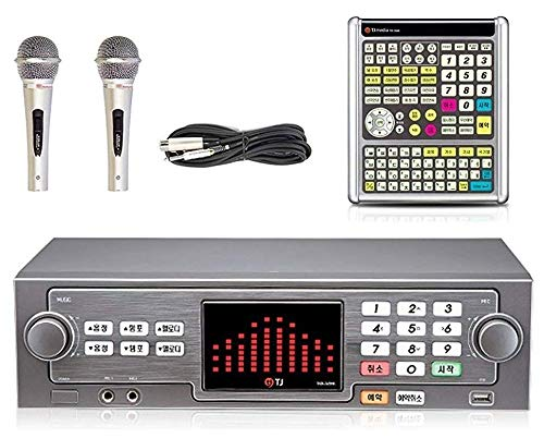 TJ Taijin Media TKR-365HK Home Party Korea Korean Karaoke Singing Machine 1TB HDD System + 2 Microphones + Remote Set/Follow-up TKR-304K (No Songbook Package)