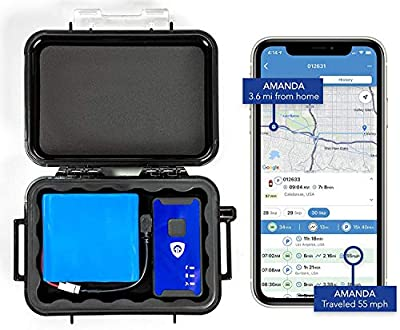 140-Day 4G LTE Magnetic GPS Tracker - Cellular Real-Time Slap and Track GPS Tracking Device with Magnetic Case and Extended Battery for Tracking Cars, Vehicles, Truck, Kids, Teens, Elderly