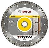 Bosch Professional Diamanttrennscheibe Standard for Universal Turbo (Stein, 230 x 22,23 x 2,5 x 10 mm, Zubehör Winkelschleifer)