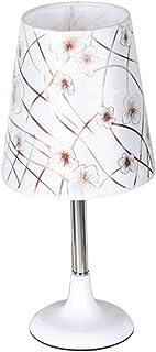 Table Lamp بسيطة الإبداعية الجدول مصباح غرفة نوم السرير مصباح عكس الضوء داخلي الجدول مصباح زر التبديل Bedside Lamp (Color...