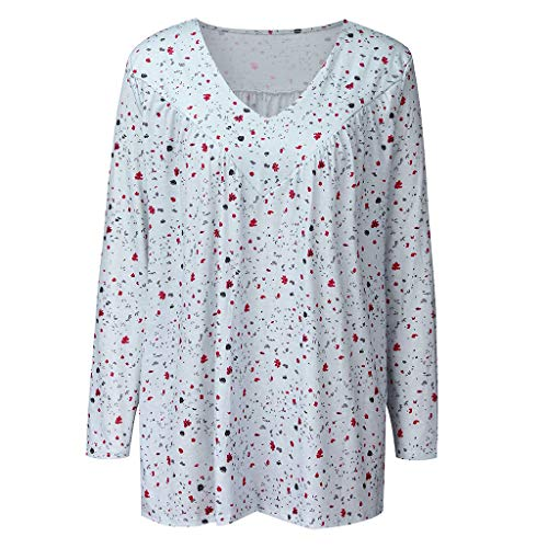 Best Buy! Sayhi Hot Sales Women Fashion V Neck Print T Shirts Casual Blouses Autumn Women's Long-Sle...