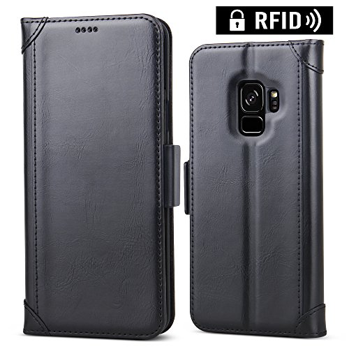 galaxy s9 wallet case with card holder