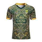 Mempire SudáFrica Rugby Jersey Camisetas De Rugby para Hombres Ropa Deportiva De Ajuste Regular (Verde, M)