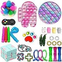 フィジットのおもちゃセット、シンプルなディンプルとおもちゃ、スケシッシュストレスボール、および不安救済絞り玩具アイスクリームフィジットのおもちゃセット,G