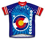 ScudoPro Men's Colorado Short Sleeve Cycling Jersey, Multi, Large