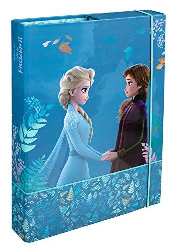 Undercover FRUW0940 Heftbox A4 mit Spanngummi, Disney Frozen II, ca. 32 x 24 x 4 cm