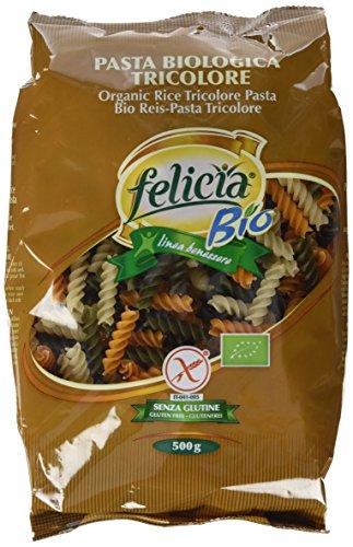 Bio Reispasta Tricolore Fusilli, 500 g, 3er Pack (3 x 500 g)