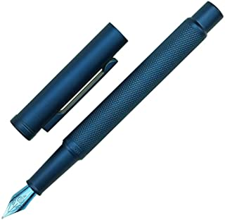 Hongdian Blue Forest Fountain Pen Fine Nib 0.5mm Beautiful Tree Texture Excellent Metal Writing Pen