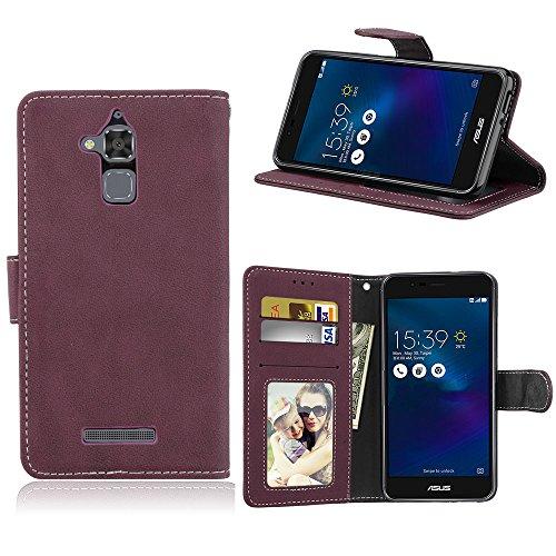 Asus Zenfone 3 Max ZC520TL Hülle,[FQY-TEC][Rose][Retro Matt][PU-Leder]und[TPU]Brieftasche,Kartensteckplatz,Ständer,Bilderrahmen Hülle für Asus Zenfone 3 Max ZC520TL(5.2