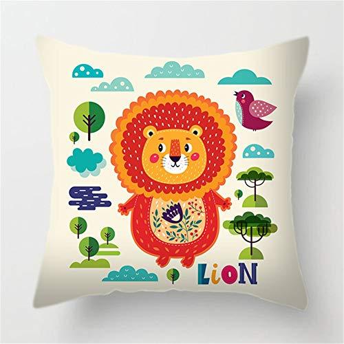 Fundas de Cojines Animales De Dibujos Animados Funda de Almohada Cuadrado Terciopelo Suave con Cremallera Invisible para Sofá Cama Coche Decor para Hogar Throw Pillow Case Pillowcase,35x35cm R7022