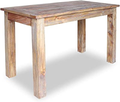 Dining Table Rectangular Kitchen Table Computer Desk Solid Reclaimed Wood Table for Home and Kitchen