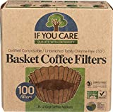 If You Care Unbleached Coffee Filters Basket, 8 inch, 100 ct