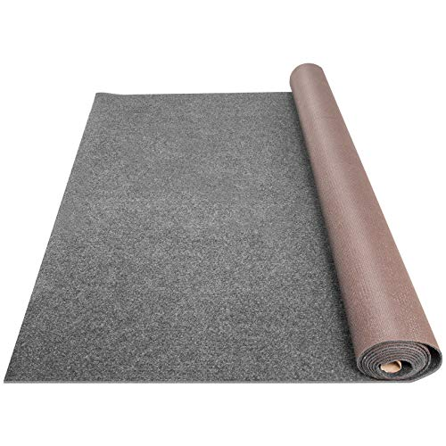Happybuy Grey Marine Carpet 6x52.5 ft Marine Carpeting Marine Grade Carpet for Boats with Waterproof Back Outdoor Rug for Patio Porch Deck Garage Outdoor Area Rug Runner Anti-Slide Porch Rug