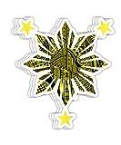 NeoBlueRain Filipino Heritage - Polynesian Tribal Warrior Tattoo Gift Decorations - 4x3 Vinyl Stickers, Laptop Decal, Water Bottle Sticker (Set of 3)