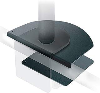 e-lynk モニターアーム 補強 補強プレート ディスプレイアーム 2画面 取付対応 滑り止め 保護シート 付き
