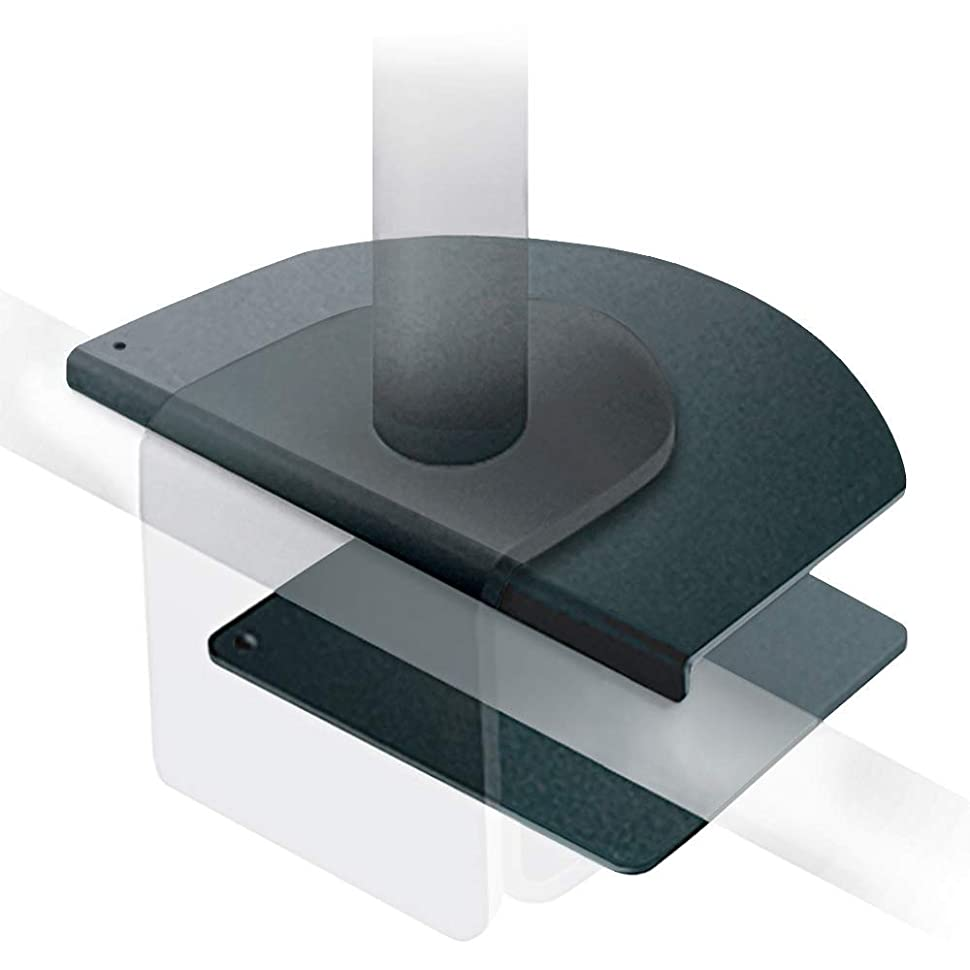 何でも現金手つかずのe-lynk モニターアーム 補強 補強プレート ディスプレイアーム 2画面 取付対応 滑り止め 保護シート 付き