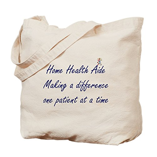 CafePress Home Health Aide Natural Canvas Tote Bag, Reusable Shopping Bag