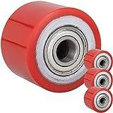PrimeMatik - Roue pour transpalette Rouleau pour Palette en polyuréthane 80 x 60 mm 700 kg 4-Pack