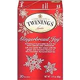 Twinings of London Gingerbread Joy Black Tea Bags, 20 Count (Pack of 6)