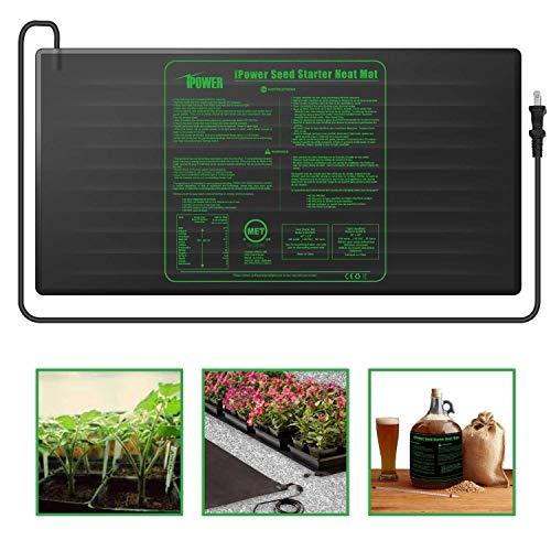iPower Durable Waterproof Seedling Heat Mat 48quot x 20quot Warm Hydroponic Heating Pad