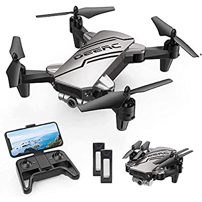 DEERC D20 Mini Drone for Kids with 720P HD FPV Camera Remote Control Toys Gifts for Boys Girls with Altitude Hold, Headless Mode, One Key Start Speed Adjustment, 3D Flips 2 Batteries from DEERC