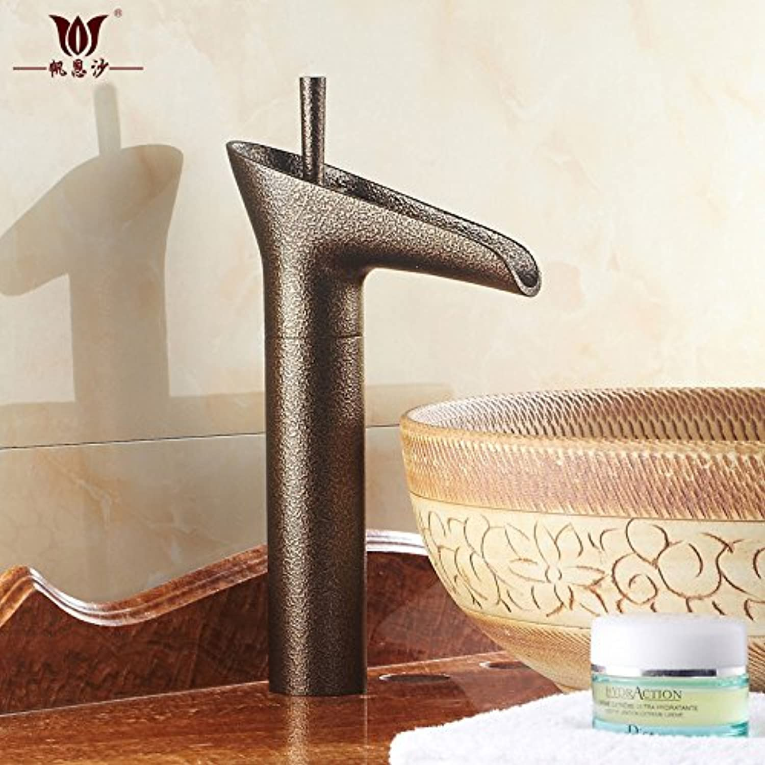 Full Copper Antique Kitchen Faucet greenical Single Cold Basin Faucet redating Retro Washbasin Faucet