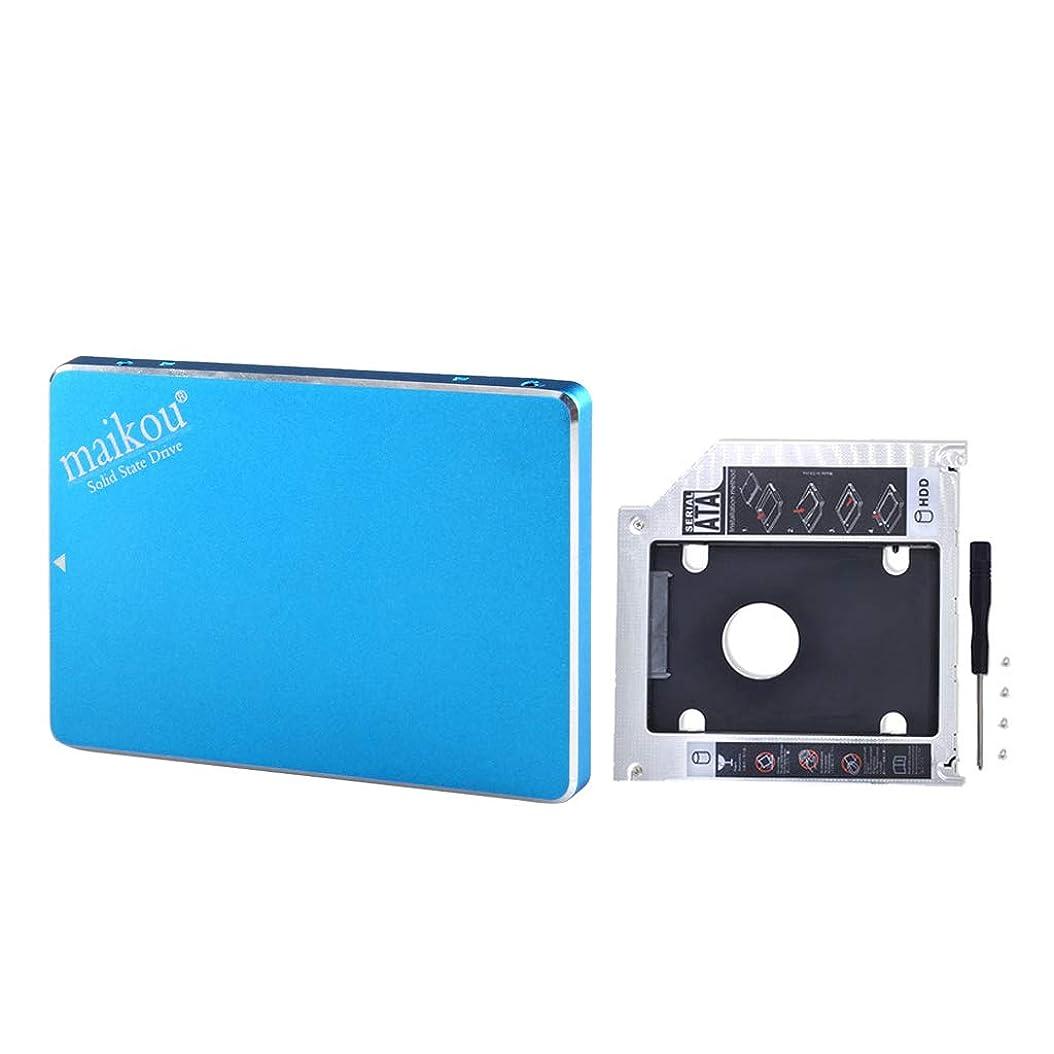 ウェイター若いお風呂を持っているSM SunniMix 2.5インチ SATAソリッドステートドライブ 1T SSD高速 9.5mmブラケットキャディ 青