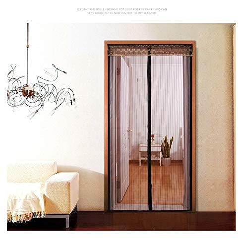 2020 nueva familia de velcro de alto grado cortina de malla de mosquitera práctica verano anti mosquito puerta malla mosquitera magnética mosquitera Q2 W 80 x H 210 cm