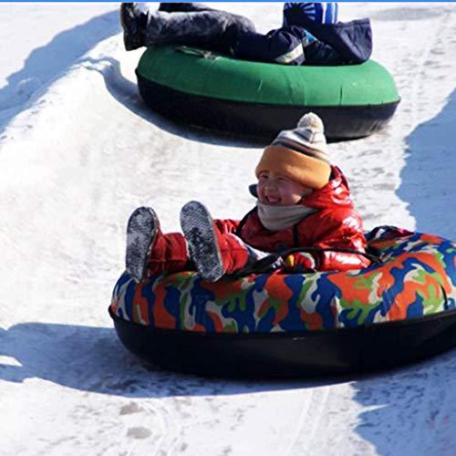 MU Schneeschlitten, Schlitten, Ski-Schlitten, Erwachsene, Ski-Ausrüstung, Outdoor-Garten, Kinder-Schleifring, Qualität Oxford-Gummiring, blau