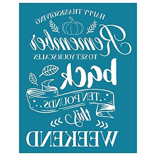 Remember Back This Weekend - Plantilla de serigrafía autoadhesiva para manualidades, camisetas y almohadas de tela de seda