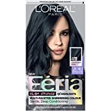 L'Oreal Paris Feria Multi-Faceted Shimmering Permanent Hair Color, 411 Downtown Denim, Pack of 1, Hair Dye