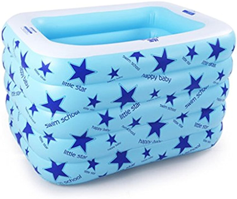LJJOO Aufblasbare Badewanne, Verdickung Insulation aufgeblasenes Kind Baby Schwimmbad Baby Play Pool Badewanne (Farbe   Blau)