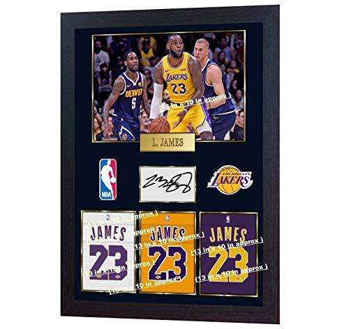 SGH SERVICES New gerahmtes Autogramm Lebron James Los Angeles Lakers NBA Basketball Memorabilia NBA signiertes Autogramm Foto vorgedruckt, gerahmt
