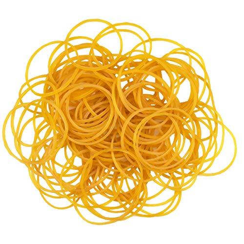 NATUCE 100 Stück Gelb Elastische Gummibänder für Schule Haushalt Büro Vorräte