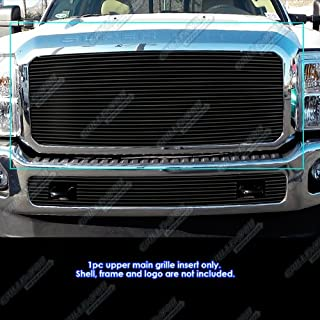 APS Compatible with 2011-2016 Ford F250 F350 Super Duty Black Billet Grille Insert N19-H82868F