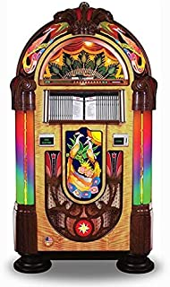 Rock-Ola Bubbler CD Peacock Jukebox with Bluetooth- Holds 100 Cds