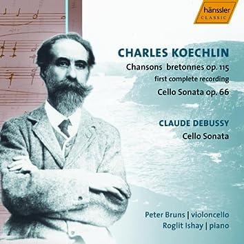 Koechlin: 20 Chansons Bretonnes / Cello Sonata / Debussy: Cello Sonata