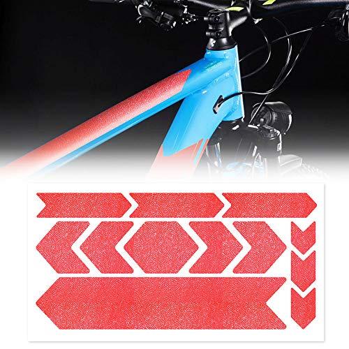 Adesivo Protezione Telaio Bicicletta MTB Rhino, 35 x 17.5 cm, Rosso Fluo