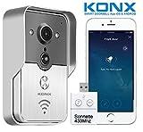 KONX Portier Vidéo Connecté KW01 Gen2, 720p Wi-FI, Full Duplex, détecteur de Mouvement + Sonnette...